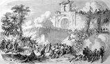 The Siege of Saigon, a two-year siege of the city by the Vietnamese after its capture on 17 February 1859 by a Franco-Spanish flotilla under the command of the French admiral Charles Rigault de Genouilly, was one of the major events of the Conquest of Cochinchina (1858–62).<br/><br/>  Saigon was of great strategic importance, both as the key food-producing area of Vietnam and as the gateway to Cochinchina.