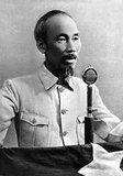 Hồ Chí Minh, born Nguyễn Sinh Cung and also known as Nguyễn Ái Quốc (19 May 1890 – 3 September 1969) was a Vietnamese Communist revolutionary leader who was prime minister (1946–1955) and president (1945–1969) of the Democratic Republic of Vietnam (North Vietnam).  He formed the Democratic Republic of Vietnam and led the Viet Cong during the Vietnam War until his death. Hồ led the Viet Minh independence movement from 1941 onward, establishing the communist-governed Democratic Republic of Vietnam in 1945 and defeating the French Union in 1954 at Dien Bien Phu.  He lost political power inside North Vietnam in the late 1950s, but remained as the highly visible figurehead president until his death.