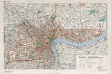 Shanghai in the 1930s, with the Shanghai International Settlement and Shanghai French Concession.<br/><br/>  Map of central Shanghai. Printed by the British War Office / US Army Map Service.