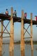The U Bein Bridge is the longest teakwood bridge in the world and was constructed around 1850 from the abandoned teak columns of the old Ava (Inwa) Palace.