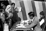 The Indian general election of 1951–52 elected the first Lok Sabha since India became independent in August 1947. Until this point, the Indian Constituent Assembly had served as an interim legislature.<br/><br/>  The Indian National Congress (INC) won a landslide victory, winning 364 of the 489 seats and 45% of the total votes polled. This was over four times as many votes as the second-largest party. Jawaharlal Nehru became the first democratically elected Prime Minister of the country.