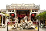 The Assembly Hall of the Cantonese Chinese Congregation (Quang Trieu) was originally built in 1885.<br/><br/>  The small but historic town of Hoi An is located on the Thu Bon River 30km (18 miles) south of Danang. During the time of the Nguyen Lords (1558 - 1777) and even under the first Nguyen Emperors, Hoi An - then known as Faifo - was an important port, visited regularly by shipping from Europe and all over the East.<br/><br/>  By the late 19th Century the silting up of the Thu Bon River and the development of nearby Danang had combined to make Hoi An into a backwater. This obscurity saved the town from serious fighting during the wars with France and the USA, so that at the time of reunification in 1975 it was a forgotten and impoverished fishing port lost in a time warp.