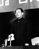 Ieng Sary, Khmer Rouge 'Brother No 3', was born Kim Trang in Tra Vinh Province, Vietnam, in 1924. He was Deputy Prime Minister and Foreign Minister of Democratic Kampuchea from 1975 to 1979 and held several senior positions in the Khmer Rouge until his defection in 1996.   He was married to Ieng Thirith, former Khmer Rouge Social Affairs Minister. Ieng Sary died in detention while on trial for genocide, 14 March, 2013, aged 87 years.