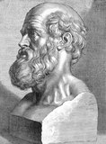 Hippocrates of Kos ( c. 460 – c. 370 BCE), was a Greek physician of the Age of Pericles (Classical Greece), and is considered one of the most outstanding figures in the history of medicine. He is referred to as the 'Father of Western Medicine' in recognition of his lasting contributions to the field as the founder of the Hippocratic School of Medicine.<br/><br/>  This intellectual school revolutionized medicine in ancient Greece, establishing it as a discipline distinct from other fields with which it had traditionally been associated (theurgy and philosophy), thus establishing medicine as a profession.