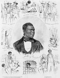 Anthony Burns (31 May 1834 – 17 July 1862) was born a slave in Stafford County, Virginia. As a young man, he became a Baptist and a 'slave preacher' at the Falmouth Union Church in Falmouth, Virginia. In 1853 he escaped from slavery and reached Boston, where he started working.<br/><br/>  The following year, he was captured under the Fugitive Slave Act of 1850 and tried under the law in Boston. The law was fiercely resisted in Boston, and the case attracted national publicity, large demonstrations, protests and an attack on US Marshals at the courthouse. Federal troops were used to ensure Burns was transported to a ship for return to Virginia after the trial.<br/><br/>  Burns was eventually ransomed from slavery, with his freedom purchased by Boston sympathizers. Afterward he was educated at Oberlin College and became a Baptist preacher, moving to Upper Canada for a position.