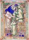 The Eadwine Psalter, previously known as the Canterbury Psalter, is an illuminated manuscript produced in England in the twelfth century. It was written on calf vellum, and illustrated at Canterbury circa 1155-60, with additions circa 1160-70.<br/><br/>  It was kept at the Cathedral Priory of Christ Church, Canterbury through most of the Middle Ages.