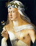 Thought to be a portrait of Lucrezia Borgia (1480–1519), the daughter of Pope Alexander VI and Vannozza dei Cattanei.