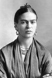 Frida Kahlo de Rivera (July 6, 1907 – July 13, 1954; born Magdalena Carmen Frieda Kahlo y Calderón, was a Mexican painter, born in Coyoacán. Perhaps best known for her self-portraits, Kahlo's work is remembered for its 'pain and passion', and its intense, vibrant colors.<br/><br/>  Her work has been celebrated in Mexico as emblematic of national and indigenous tradition, and by feminists for its uncompromising depiction of the female experience and form. Kahlo had a stormy but passionate marriage with the prominent Mexican artist Diego Rivera.