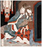 Consort Yang Yuhuan (1 June 719 — 15 July 756), often known as Yang Guifei (Guifei being the highest rank for imperial consorts during her time), known briefly by the Taoist nun name Taizhen, is famous as one of the Four Beauties of Ancient China.<br/><br/>  She was the beloved consort of Emperor Xuanzong of Tang during his later years. During the Anshi Rebellion, as Emperor Xuanzong was fleeing from the capital Chang'an to Chengdu, she was killed because his guards blamed the rebellion on her powerful cousin Yang Guozhong and the rest of her family.