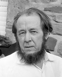 Aleksandr Isayevich Solzhenitsyn (11 December 1918 – 3 August 2008) was a Russian novelist, historian, and critic of Soviet totalitarianism. He helped to raise global awareness of the gulag and the Soviet Union's forced labor camp system.<br/><br/>  While his writings were long suppressed in the USSR, he wrote many books, most notably <i>The Gulag Archipelago</i>, <i>One Day in the Life of Ivan Denisovich</i>, <i>August 1914</i> and <i>Cancer Ward</i>. Solzhenitsyn was awarded the Nobel Prize in Literature in 1970 'for the ethical force with which he has pursued the indispensable traditions of Russian literature'. He was expelled from the Soviet Union in 1974 but returned to Russia in 1994 after the dissolution of the Soviet Union.<br/><br/>  Solzhenitsyn died of heart failure near Moscow on 3 August 2008, at the age of 89. A burial service was held at Donskoy Monastery, Moscow, on Wednesday, 6 August 2008. He was buried the same day at the place chosen by him in the monastery's cemetery.