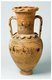 An amphora (English plural: amphorae or amphoras) is a type of container of a characteristic shape and size, descending from at least as early as the Neolithic Period. Amphorae were used in vast numbers for the transport and storage of various products, both liquid and dry, but mostly for wine. It is most often ceramic, but examples in metals and other materials have been found.<br/><br/>  Stoppers of perishable materials, which have rarely survived, were used to seal the contents. Two principal types of amphorae existed: the neck amphora, in which the neck and body meet at a sharp angle; and the one-piece amphora, in which the neck and body form a continuous curve. Neck amphorae were commonly used in the early history of ancient Greece, but were gradually replaced by the one-piece type from around the 7th century BCE.