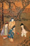 Su Hanchen was a native of Kaifeng, Henan, who specialized in painting Buddhist and Taoist figures. During the Xuanhe era (1119-1125) under Emperor Huizong of the Northern Song, he was a Painter-in-Attendance at the imperial academy.<br/><br/>  After the court moved south, Su resumed in his position there, and, in the early Longxing era (1163-1164) of Emperor Xiaozong, he was praised for his Buddhist paintings.<br/><br/>  Su Hanchen was a master of observation and description who knew that children at play are in a state of natural ease. His ability to capture the spirit and appearance of such children made him the most renowned painter in this genre.