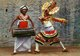 The repertoire of Ruhunu dancing has its origins in the rituals of the Devol Maduwa - used to propitiate the Deity/demon Devol - and in exorcistic rituals known as the Rata Yakuma and the Sanni Yakuma - associated with various demons who are supposed to cause a variety of afflictions and incurable illnesses.