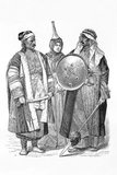 From 1861 to 1890 the Munich publishing firm of Braun and Schneider published plates of historic and contemporary  costume in their magazine Munchener Bilderbogen.<br/><br/>  These plates were eventually collected in book form and published at the turn of the century in Germany and England.