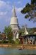 Somdet Phra Naresuan Maharat, or Somdet Phra Sanphet II (1555 - 1605) was King of the Ayutthaya Kingdom from 1590 until his death in 1605. Naresuan was one of Siam's most revered monarchs as he was known for his campaigns to free Siam from Burmese rule. During his reign numerous wars were fought against Burma, and Siam reached its greatest territorial extent and influence.