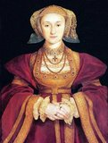 Anne of Cleves (German: Anna; 22 September 1515 – 16 July 1557) was Queen of England from 6 January 1540 to 9 July 1540 as the fourth wife of King Henry VIII. The marriage was declared never consummated and, as a result, she was not crowned queen consort.<br/><br/>  Following the annulment of their marriage, Anne was given a generous settlement by the King, and thereafter referred to as the King's Beloved Sister. She lived to see the coronation of Queen Mary I, outliving the rest of Henry's wives.
