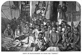 These children are some of the ninety-five who were rescued from slavery by a British ship (the Daphne) patrolling the waters off Zanzibar in 1869.<br/><br/>   After Parliament abolished the slave trade, ships of the Royal Navy were assigned to intercept slavers and free the human cargo on board.<br/><br/>   While this engraving, based on a photograph by George Sullivan, depicts conditions along Africa's eastern shore, the same situation existed on the Atlantic side.