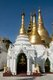 Burma / Myanmar: Shrines and smaller stupas in front of the great Shwedagon Pagoda, Yangon (Rangoon)