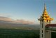 Burma / Myanmar: Looking east at sunset towards the Shan Plateau from the Sutaungpyei Pagoda at the summit of Mandalay Hill, Mandalay