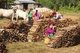 Burma / Myanmar: Pa-O women selling fire wood at the Thaung Tho Market at the southwestern end of Inle Lake, Shan State