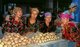 Uzbekistan: Uzbek women selling potatoes in the main market, Samarkand