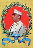 Mohamed Siad Barre (October 6, 1919 – January 2, 1995) was the President of the Somali Democratic Republic from 1969–91.<br/><br/>  The Barre-led military junta that came to power after a coup d'etat in 1969 said it would adapt scientific socialism to the needs of Somalia. It drew heavily from the traditions of China. Volunteer labour harvested and planted crops, and built roads, hospitals and universities. Almost all industry, banks and businesses were nationalised, and cooperative farms were promoted.<br/><br/>  After 21 years of military rule, Barre's Supreme Revolutionary Council was eventually forced from power in the early 1990s by a coalition of armed opposition groups. He died in political exile in 1995, but was returned to Somalia for burial in his home region.