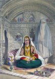 The lady in the lithograph, Shakar Lab or 'Sugar Lips', was the favourite wife of a Governor of Bamiyan and niece by marriage to Dost Mohammed.<br/><br/>  As a great favour, Rattray was introduced to her at Kabul. Describing her as a 'Qizilbash Belle of the First Water', Rattray wrote: 'Afghaun ladies exercise more control over their husbands than is usual in Eastern countries'.