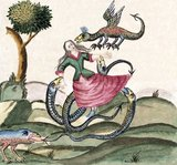 <i>Clavis Artis</i> is the title of an alchemical manuscript published in Germany in three volumes in the late 17th or early 18th century, attributed to Zoroaster (Zarathustra). It features numerous watercolor illustrations depicting alchemical images, as well as pen drawings of laboratory instruments.<br/><br/>  Three copies of the manuscript are known to exist, one at the Biblioteca dell'Accademia Nazionale dei Lincei in Rome, one at the Biblioteca Civica Attilio Hortis in Trieste, and one at the Bayerische Staatsbibliothek in Munich. There is no information about the author and the origin of the manuscript, but there are references to a Rosicrucian order (Orden der Gold- und Rosenkreutzer).