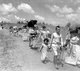 The 1948 Palestinian exodus, known in Arabic as the Nakba (Arabic: النكبة, an-Nakbah, lit.'catastrophe'), occurred when more than 700,000 Palestinian Arabs fled or were expelled from their homes, during the 1947–1948 Civil War in Mandatory Palestine and the 1948 Arab–Israeli War.<br/><br/>  The exact number of refugees is a matter of dispute, but around 80 percent of the Arab inhabitants of what became Israel (50 percent of the Arab total of Mandatory Palestine) left or were expelled from their homes.<br/><br/>  Later in the war, Palestinians were forcibly expelled as part of 'Plan Dalet' in a policy of 'ethnic cleansing'.
