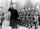 Germany / Palestine / Israel: Haj Amin al-Husseini, the Grand Mufti of Jerusalem, inspecting Bosnian volunteers of the Waffen SS while giving the Nazi salute, 1941