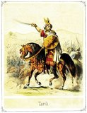 Tariq ibn Ziyad (15 November 689 – 11 April 720) was a great Muslim Umayyad general who led the conquest of Visigothic Hispania in 711 under the orders of the Umayyad Caliph Al-Walid I. Tariq ibn Ziyad is considered to be one of the most important military commanders in Iberian history. He was initially the deputy of Musa ibn Nusair in North Africa, and was sent by his superior from the north coast of Morocco to launch the first thrust of a conquest of the Visigothic Kingdom (comprising modern Spain and Portugal).<br/><br/>  The name 'Gibraltar' derives from the Arabic Jebel Tariq, or 'Mountain of Tariq', and is named for Tariq ibn Ziyad.
