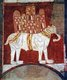 Spain: A war elephant bearing a castle, fresco from the Hermitage of San Baudelio de Berlanga, Soria, c. 1125