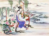 Consort Yang Yuhuan (1 June 719 — 15 July 756 CE), often known as Yang Guifei (Guifei being the highest rank for imperial consorts during her time), known briefly by the Taoist nun name Taizhen, is famous as one of the Four Beauties of ancient China.<br/><br/>  She was the beloved consort of Emperor Xuanzong of Tang during his later years. During the Anshi Rebellion, as Emperor Xuanzong was fleeing from the capital Chang'an to Chengdu, she was killed because his guards blamed the rebellion on her powerful cousin Yang Guozhong and the rest of her family.<br/><br/>  The story of Yang Guifei and the poem also became highly popular in Japan and served as sources of inspiration for the classical novel 'The Tale of Genji' which begins with the doomed love between an emperor and a consort, Kiritsubo, who is likened to Consort Yang.<br/><br/>  A Japanese rumour states that Lady Yang was rescued, escaped to Japan and lived her remaining life there. In Japanese, she is known as Yokihi.