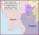'Saharat Thai Doem' or 'The Federated Original Thai (States)' was a territory in Burma's eastern Shan State and eastern Karenni state approximating to territories ceded under pressure by Siam to the British in 1893 and considered 'lost territories' by subsequent Siamese and Thai governments.<br/><br/>  In 1942 the Imperial Japanese Army accompanied by the Thai Phayap Army invaded Burma's Federated Shan States from Thailand. Following the Japanese-Thai victory, on 18 August 1943 the Japanese government agreed to the Thai annexation of all of Kengtung State and part of Mongpan State. The Thai authorities remained in possession of these occupied territories until the defeat of Japan in August, 1945, when the Thai Phayap Army withdrew back to Thailand.