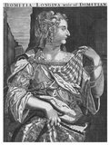 Domitia Longina (53/55-126/130 CE) was wife to Domitian and an empress of Rome. She divorced her previous husband, Lucius Aelius Lamia, to marry Domitian in 71 CE, and together they had one son. His early death caused them to drift apart for a while however, with Domitian briefly exiling Domitia for not producing another heir. He soon recalled her though, and despite rumours of Domitian having an incestuous relationship with his niece Julia Flavia, it is said that Domitia continued to live in the palace without incident. She survived Domitian's assassination in 96 CE, and died peacefully decades afterwards.