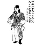 Guan Yu (-220 CE), style name Yunchang, was a general serving under the warlord Liu Bei in the late Eastern Han Dynasty of China. He played a significant role in the civil war that led to the collapse of the Han Dynasty and the establishment of the state of Shu Han in the Three Kingdoms period, of which Liu Bei was the first emperor.<br/><br/>  As one of the best known Chinese historical figures throughout East Asia, Guan's true life stories have largely given way to fictionalised ones, most of which are found in the historical novel 'Romance of the Three Kingdoms' or passed down the generations, in which his deeds and moral qualities have been lionised. Guan is respected as an epitome of loyalty and righteousness.<br/><br/>  Guan was deified as early as the Sui Dynasty and is still worshipped by many Chinese people today, especially in southern China, Taiwan, Hong Kong, and among many overseas Chinese communities. He is a figure in Chinese folk religion, popular Confucianism, Taoism, and Chinese Buddhism, and small shrines to Guan are almost ubiquitous in traditional Chinese shops and restaurants.