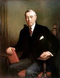 Thomas Woodrow Wilson (December 28, 1856 – February 3, 1924), better known as Woodrow Wilson, was an American politician and academic who served as the 28th President of the United States from 1913 to 1921.<br/><br/>  In office, Wilson reintroduced the spoken State of the Union, which had been out of use since 1801. Leading the Congress, now in Democratic hands, he oversaw the passage of progressive legislative policies unparalleled until the New Deal in 1933.<br/><br/>  A devoted Presbyterian, Wilson infused a profound sense of moralism into his internationalism, now referred to as 'Wilsonian'—a contentious position in American foreign policy which obligates the United States to promote global democracy. For his sponsorship of the League of Nations, Wilson was awarded the 1919 Nobel Peace Prize.