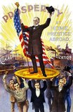 William McKinley (January 29, 1843 – September 14, 1901) was an American politician and lawyer who served as the 25th President of the United States from March 4, 1897 until his assassination in September 1901, six months into his second term.<br/><br/>  McKinley led the nation to victory in the Spanish–American War, raised protective tariffs to promote American industry, and maintained the nation on the gold standard in a rejection of inflationary proposals.