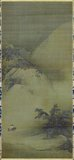 Liang Kai was a Chinese painter of the Southern Song Dynasty. He was also known as 'Madman Liang'. He was born in Shandong and worked in Lin An (later Hangzhou). He is known to have studied with the master Jia Shigu.<br/><br/>  The painting is marked with the <i>zakkeshitsu-in</i> seal found on Chinese paintings imported to Japan by the Ashikaga (also called Muromachi) Shogunate.