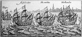 The First Dutch Expedition to Indonesia was an expedition that took place from 1595 to 1597. It was instrumental in the opening up of the Indonesian spice trade to the merchants that eventually formed the Dutch East India Company, and marked the end of the Portuguese Empire's dominance in the region.