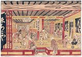 Okumura Masanobu (1686 – 13 March 1764) was a Japanese print designer, book publisher, and painter. He also illustrated novelettes and in his early years wrote some fiction.<br/><br/>  At first his work adhered to the Torii school, but later drifted beyond that. He is a figure in the formative era of ukiyo-e doing early works on actors and <i>bijin-ga</i> ('pictures of beautiful women').