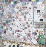 The Catalan Atlas (1375) is the most important Catalan map of the medieval period. It was produced by the Majorcan cartographic school and is attributed to Cresques Abraham, a Jewish book illuminator who was self-described as being a master of the maps of the world as well as compasses. It has been in the royal library of France (now the Bibliotheque nationale de France) since the late 14th century.