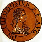 Theodosius II (401-450), also known as Theodosius the Younger and Theodosius the Calligrapher, was the son of Emperor Arcadius of the Eastern Roman Empire. He was proclaimed co-ruler and Augustus a year after his birth, becoming the youngest person to ever bear the title. He became emperor after his father's death in 408 CE, aged only seven.<br/><br/>  His older sister Pulcheria briefly assumed regency as Augusta until Theodosius was old enough in 416 CE. Theodosius was a devout Christian, waging wars against the Sassanids and others who persecuted Christianity. He also had to deal with the Huns under Attila, forced to constantly pay them off to maintain peace.<br/><br/>  Theodosius was also known for promulgating the Theodosian law code and for his founding of the University of Constantinople. Theodosius eventually died in 450 CE from a riding accident, leading to a power struggle between his sister Pulcheria and the eunuch Chrysaphius.