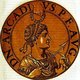 Arcadius (377-408) was the eldest son of Emperor Theodosius I, born in Hispania. He was declared as co-ruler of the east in 383, only six years old. When his father died in 395, Arcadius became emperor of the East, co-ruling the Roman Empire with his brother Honorius in the West.<br/><br/>  Aracdius was known for being a weak ruler, his reign dominated by the ministers that surrounded him, as well as by his wife Aelia Eudoxia. Arcadius himself seemed more concerned with appearing as a pious Christian rather than as a politician or general.<br/><br/>   By the time he died in 408, he was only nominally in control of the Eastern Roman Empire, the true power lying in the hands of the Praetorian Prefect Anthemius.