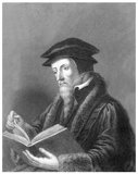 John Calvin, born Jehan Cauvin: 10 July 1509 – 27 May 1564) was an influential French theologian and pastor during the Protestant Reformation. He was a principal figure in the development of the system of Christian theology later called Calvinism, aspects of which include the doctrines of predestination and of the absolute sovereignty of God in salvation of the human soul from death and eternal damnation.<br/><br/>  Various Congregational, Reformed, and Presbyterian churches, which look to Calvin as the chief expositor of their beliefs, have spread throughout the world.