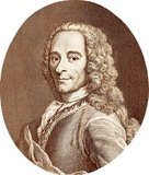 Francois-Marie Arouet (21 November 1694 - 30 May 1778), more commonly known by his <i>nom de plume</i> Voltaire, was a French Enlightenment historian, philosopher and writer. He was famous for his advocacy of freedom of religion, freedom of speech and separation of church and state, often attacking the Catholic Church through his wit and writings.<br/><br/>  Voltaire was a prolific and versatile writer, with more than 20,000 letters and over 2,000 books and pamphlets to his name, as well as plays, poems, essays and historical and scientific works. Despite the strict censorship laws of the time, Voltaire often spoke up in favour of civil liberties, and regularly used satire to criticise intolerance, religious dogma and other pillars of French institutions of his day.