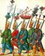 The Janissaries were elite infantry units that formed the Ottoman Sultan's household troops, bodyguards and the first standing army in Europe. The corps was most likely established during the reign of Murad I (1362–89).