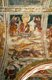 Slovenia: 15th century fresco by John of Kastav (Johannes de Castua) showing a scene from the Creation of the Earth (Genesis, Old Testament) in the vault of the central nave, Holy Trinity Church, Hrastovlje, Rizana Valley