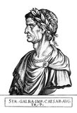 Born Servius Sulpicius Galba, Galba came from a noble and wealthy family, though he had no connection by birth and only a very remote connection by adoption to any of the Julio-Claudian dynasty. Refusing encouragement by friends to make a bid for the empire after Caligula's assassination, Galba loyally served Claudius, and lived for most of Nero's reign in retirement.<br/><br/>  However, in 68 CE, he was informed of Nero's intention to have him killed, and he defected from Nero to save himself. After Nero's suicide, Galba was named Caesar and killed many soldiers upon his approach to Rome for making demands of him.<br/><br/>  Galba's reign lasted little more than seven months, his cruelty and sentencing of many to death without trial turning the people and especially the military and Praetorian guard against him. Many legions refused to swear loyalty and rebelled against Galba, and Galba was assassinated while riding out to confront them. His reign began what would be known as the tumultuous Year of the Four Emperors.