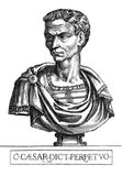 Born Gaius Julius Caesar (100-44 BCE), Julius Caesar was one the most infamous figures in history. A Roman politican, general and author, he played a critical role in the fall of the Roman Republic and paved the way for the rise of the Roman Empire. His political alliance alongside Crassus and Pompey, first formed in 60 BCE, would dominate Roman politics for many years. His victories in the Gallic Wars extended the Republic's territories all the way to the English Channel and the Rhine, and he became the first Roman general to build a bridge across the Rhine, as well as starting the invasion of Britain.<br/><br/>  With these achievements under his belt, he amassed unmatched military power to himself, soon eclipsing his political ally Pompey. The Senate, also fearful of his growing power, demanded he step down from military command and return to Rome, which he refused, and marked his defiance by crossing the Rubicon with a legion in 49 BCE, illegally entering Roman Italy with an army and causing a civil war that he quickly crushed.<br/><br/>  Taking control of the government, Caesar began implementing various social and political changes, declaring himself 'dictator in perpetuity'. The Senate still held much contempt for him however, and during the Ides of March (15 March) 44 BCE, Caesar was assassinated by a conspiracy of rebellious senators led by former friend and ally, Marcus Junius Brutus. A new string of civil wars ensued, ultimately concluding with Julius Caesar's adopted heir, Octavian, emerging victorious and becoming emperor.